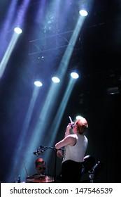 BENICASIM, SPAIN - JULY 18: La Roux (band) concert at FIB (Festival Internacional de Benicassim) 2013 Festival on July 18, 2013 in Benicasim, Spain.