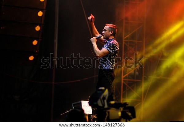 Benicasim Spain July 21 Brandon Flowers Stock Photo (Edit