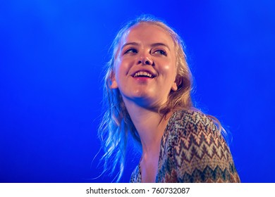 BENICASSIM, SPAIN - JUL 13: Dream Wife (girls music band) perform in concert at FIB Festival on July 13, 2017 in Benicassim, Spain.
