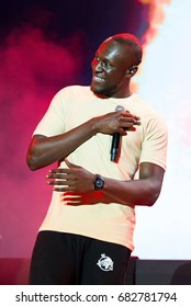 BENICASSIM, SPAIN - JUL 13: Stormzy (hip hop and grime artist) perform in concert at FIB Festival on July 13, 2017 in Benicassim, Spain.