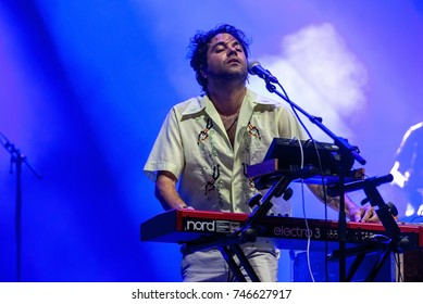 BENICASSIM, SPAIN - JUL 14: Joe Crepusculo (music band) perform in concert at FIB Festival on July 14, 2017 in Benicassim, Spain.