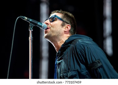 BENICASSIM, SPAIN - JUL 15: Liam Gallagher (musician) performs in concert at FIB Festival on July 15, 2017 in Benicassim, Spain.