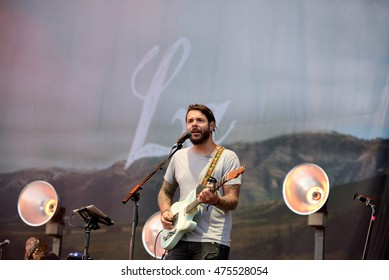 BENICASSIM, SPAIN - JUL 16: L.A. (Spanish band) in concert at FIB Festival on July 16, 2015 in Benicassim, Spain.