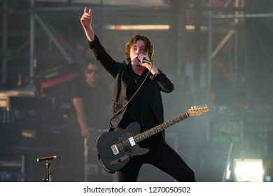 BENICASSIM, SPAIN - JUL 20: Catfish and the Bottlemen (band) perform in concert at FIB Festival on July 20, 2018 in Benicassim, Spain.