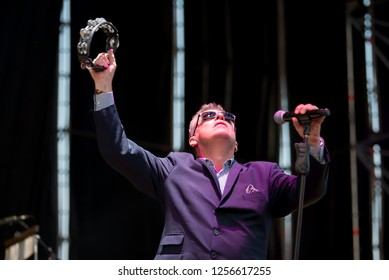 BENICASSIM, SPAIN - JUL 22: Madness (ska band) perform in concert at FIB Festival on July 22, 2018 in Benicassim, Spain.