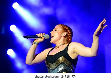 BENICASSIM, SPAIN - JULY 19 Katy B (singer and songwriter) concert at FIB Festival on July 19, 2014 in Benicassim, Spain.