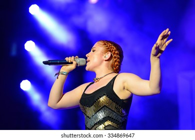 BENICASSIM, SPAIN - JULY 19 Katy B (English singer and songwriter) concert at FIB Festival on July 19, 2014 in Benicassim, Spain.