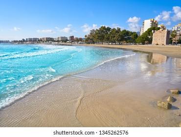 Benicassim Torre Sant Vicent playa beach in Castellon of Spain also Benicasim