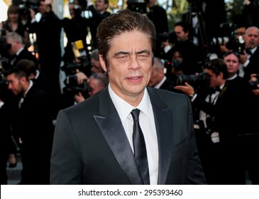 Benicio del Toro attends the 'Carol' premiere during the 68th annual Cannes Film Festival on May 17, 2015 in Cannes, France.