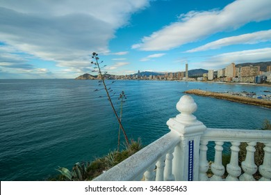Benidorm bay and skyline as seen from its landmark viewpoint