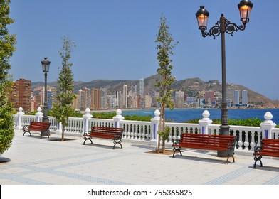Benidorm embankment, Spain