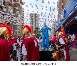 Benidorm English Fancy Dress Party. November 12, 2015. Benidorm. Region of Valencia. Spain. This tradition started over 20 years ago.