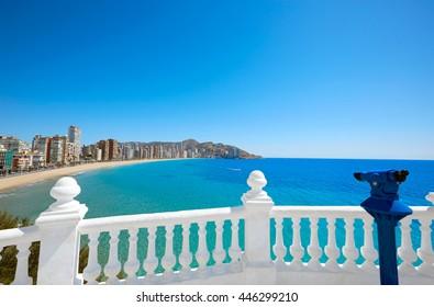 Benidorm Levante beach in Alicante Mediterranean of Spain