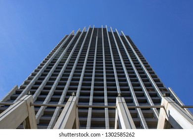 Benidorm Spain 1st Feb 2019: The famous Gran Hotel Bali in Benidorm Alicante looking up from the ground all the way up to the 43rd floor.