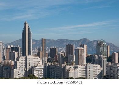 BENIDORM, SPAIN - DECEMBER 2017: View of the city Benidorm in theprovince of Alicante. With about 70.000 inhabitants it has the most high-rise buildings per capita in the world.
