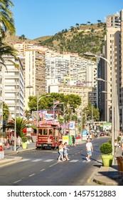 Benidorm, Spain, June 15, 2019 - People walking in Benidorm city