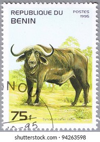 BENIN - CIRCA 1995: A stamp printed in Benin shows Syncerus caffer or African buffalo, series, circa 1995