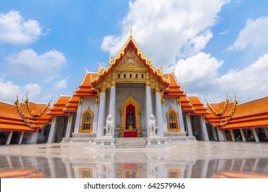 Benjamaborpit Temple or Marble Temple, Bangkok Thailand.