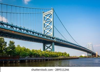 The Benjamin Franklin Bridge, in Philadelphia, Pennsylvania.