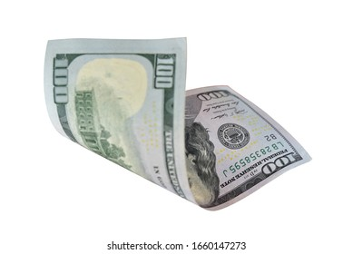 Benjamin Franklin on 100 dollar bank note isolated on white background. This has clipping path.