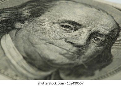 Benjamin Franklin on hundred dollars bill
