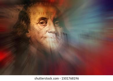 Benjamin Franklin on a new one hundred dollar bill