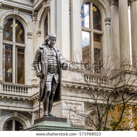 Benjamin Franklin Statue at