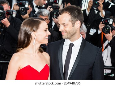 Benjamin Millepied and Natalie Portman attend the opening ceremony and premiere of La Tete Haute ( Standing Tall ) during the 68th annual Cannes Film Festival on May 13, 2015 in Cannes, France.