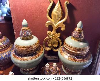 Benjarong bowl with a beautiful.