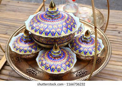 Benjarong is a fine art type of appliance called a cup. But it is a special cup made. More elaborately