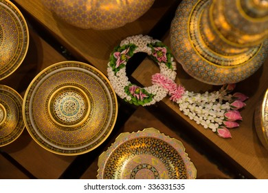 Benjarong,ceramic, souvenir from Thailand