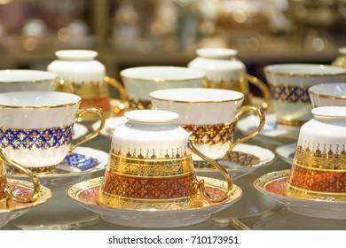 Benjarong,ceramic,Thailand
