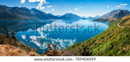 Bennett's Bluff Lookout, New Zealand -A viewpoint on one of the most scenic drives in New Zealand that connects Queenstown with Glenorchy and overlooks Pig and Pigeon Islands and Lake Wakatipu.