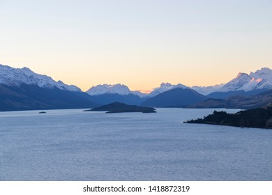 """Bennett's Bluff Lookout, NZ -A viewpoint on one of the most scenic drives called """"Paradise road"""" in NZ that connects Queenstown with Glenorchy and overlooks Pig and Pigeon Islands and Lake Wakatipu"""