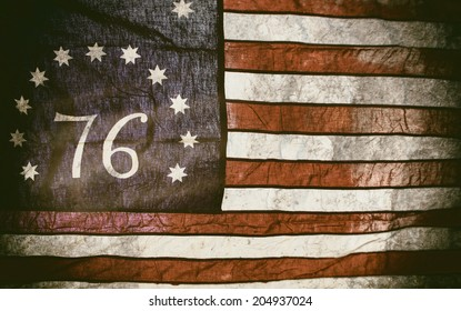Bennington Flag American 76. The Bennington flag,a version of the American flag associated with the American Revolution Battle of Bennington, where it gets its name.