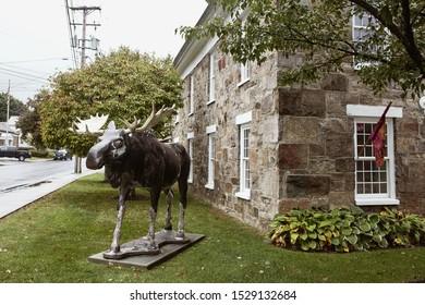 Bennington, Vermont - October 1st, 2019:  Exterior of Downtown Bennington Visitor Center in the New England town of Bennington, Vermont