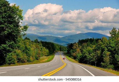 Bennington, Vermont - September 19, 2014:  Vermont - View along historic Vermont State Route 7 to the distant Green Mountains   *