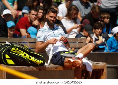 Benoit Paire (FRA) during the Open Parc Auvergne-Rhone-Alpes Lyon 2019, ATP 250 Tennis tournament on May 22, 2019 at Parc de la Tete d'Or in Lyon, France