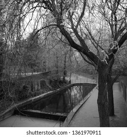 Benson Quey Wapping Woods Shadwell Basin London Black and White