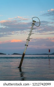 Bent Channel Marker at Kubin, Moa Island, Torres Strait, Australia in 2009