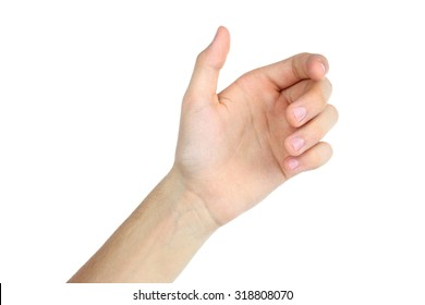 bent fingers hands on a white background