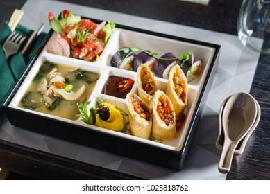 bento box in japanese restaurant