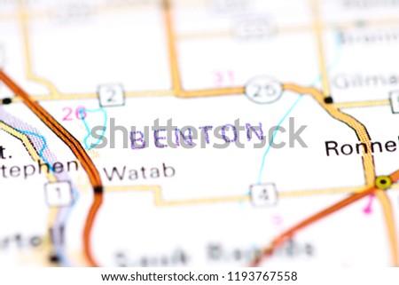 Benton Minnesota USA On Map Stock Photo (Edit Now) 1193767558 ...