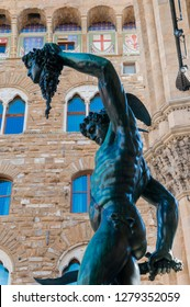 Benvenuto Cellini's Perseus with the Head of Medusa, Firenze, Unesco world heritage site, Tuscany, Italy