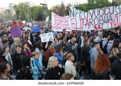 Beograd 10.04.2017 Protest, Studenti, Protest protiv diktature,
