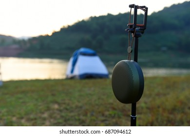 BEOPLAY A1 with Camping in Cam Son lake, Bac Giang, Viet Nam jul; 2017