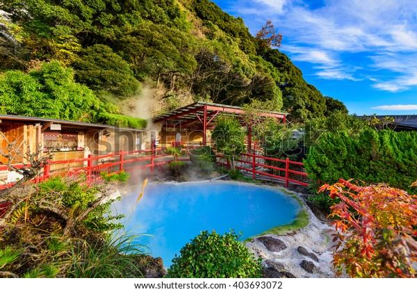 別府日本の竈地獄温泉。