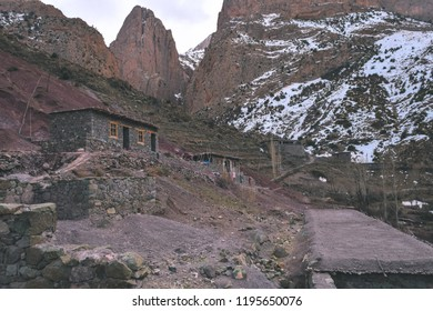 Berber house in the Moroccan  High Atlas