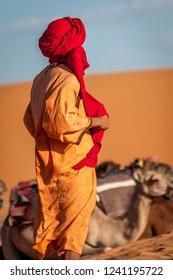 berber in the Sahara Desert Merzouga Morocco