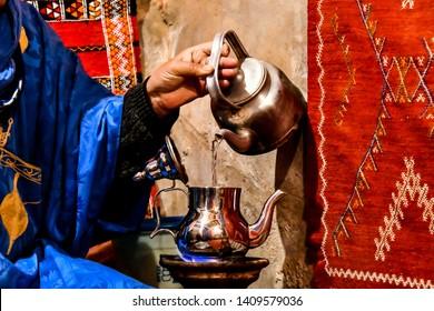 berber tea making in morocco north africa